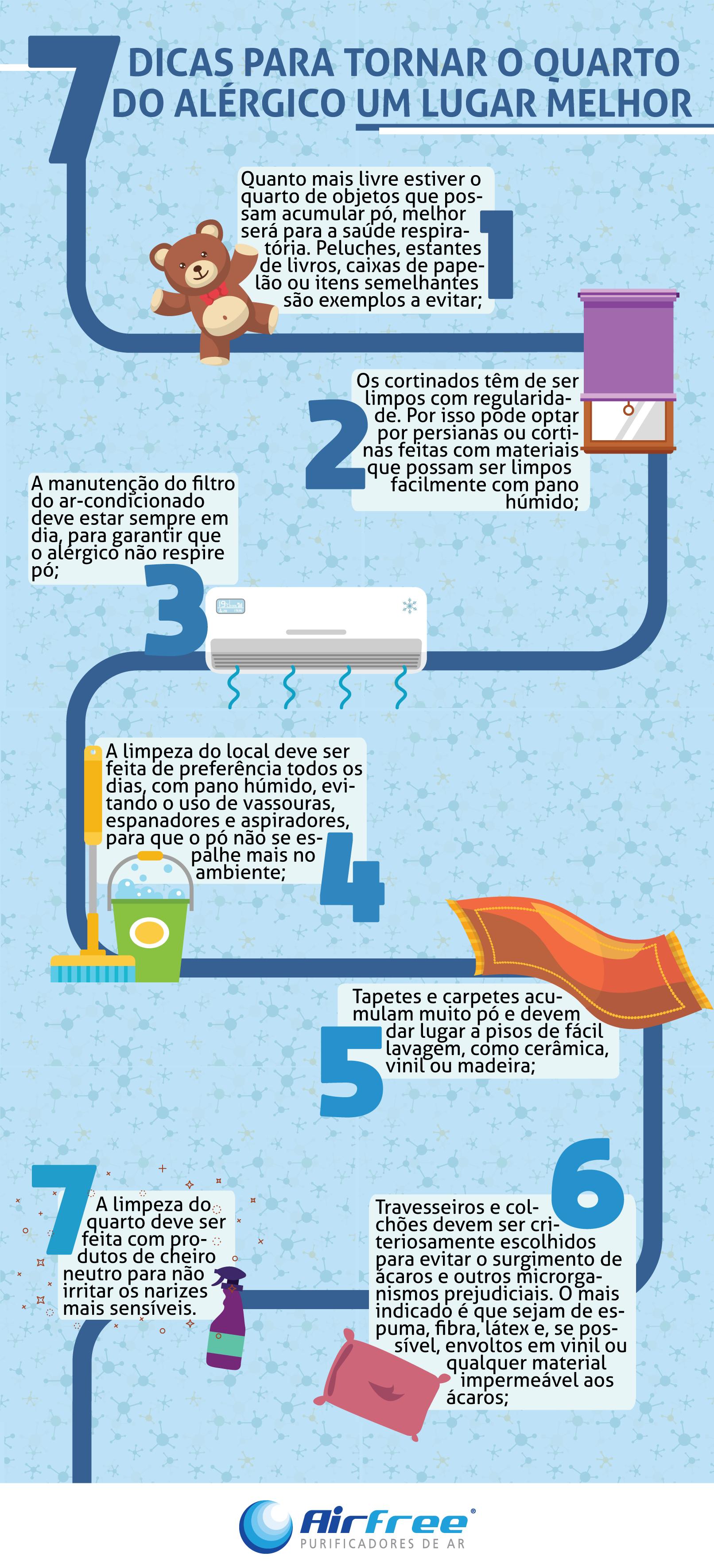 dicas de como tornar o quarto de um alérgico um lugar melhor