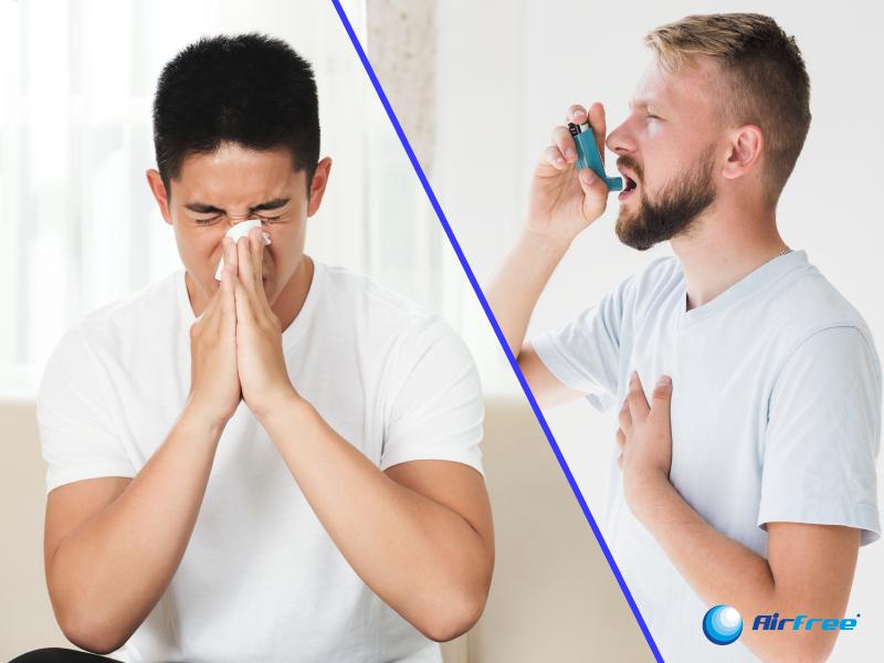 homens com bronquite e asma