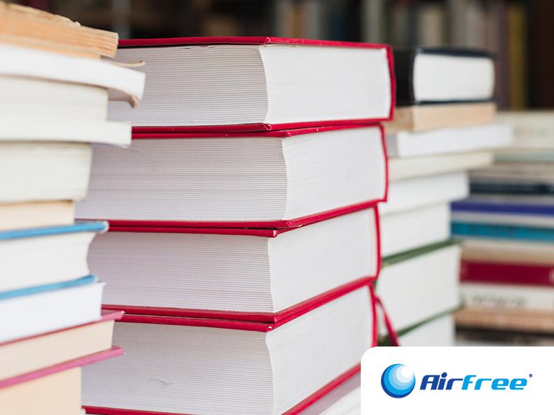 Blog Airfree - Pó nos Livros? Livre-se dele!